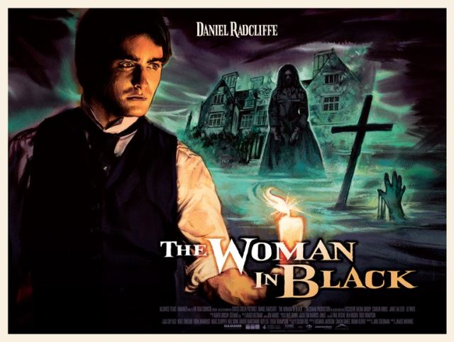 Woman in Black Retro Poster