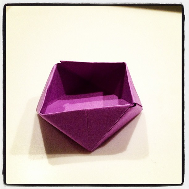 Thirty Days Of Origami Day 24 Diamond Box Its Purple