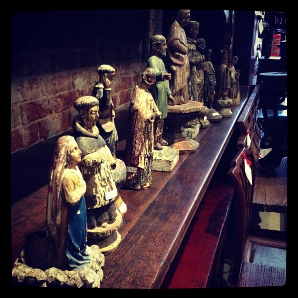 Carved Wood Saints from the Philippines, at Silk Road Collection, New Orleans