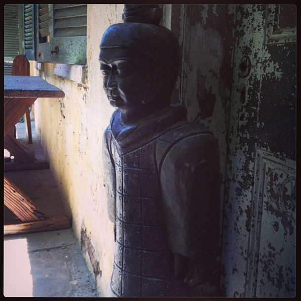 Chinese Soldier Statue, Silk Road Collection, New Orleans