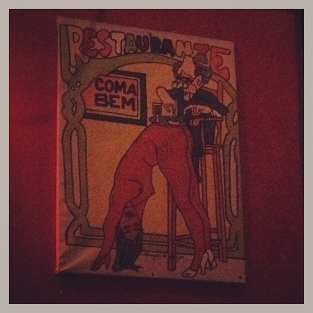 Weird poster at The Balcony Bar in New Orleans.