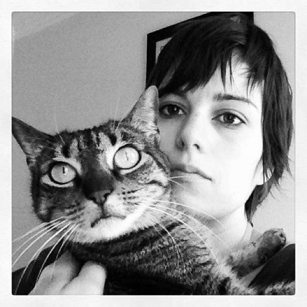 Anna & Isabel (Self Portrait w/ Cat, 2013)