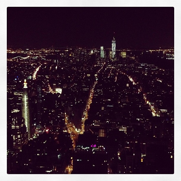 View from the top. We went to both observation decks - the 86th...