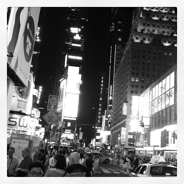 Later that night we went to Times Square!