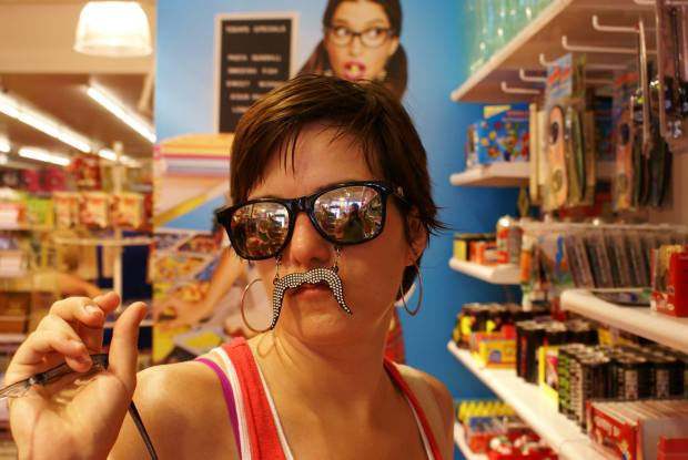 Playing around in a Charleston candy shop.