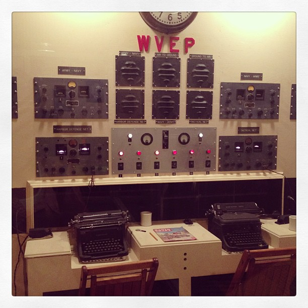 WWII-era radio room, preserved at Ft. Moultrie (Sullivan's Island, SC)