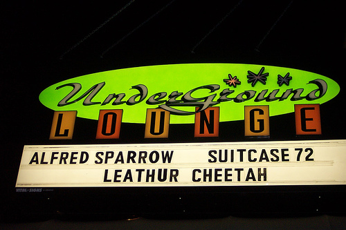The marquee at The Underground Lounge - our beloved home away from home.