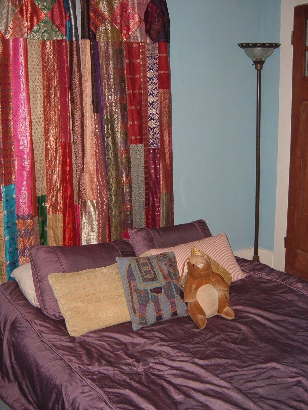 The bed in my new apartment, just before Katrina. The bunny on the bed is Frank the velveteen rabbit. My grandfather gave him to me the Christmas before he died, and my landlord threw him out after Katrina. I was devastated, as he was the ONLY thing I had asked her to save.