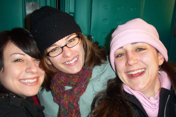 Stacy, me and Colleen at the Kristkindlemarkt, just before Christmas 2005.