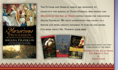 Are you devoted to Bones, murder mysteries and forensics stories? Even more, are you a fan of medieval history? If so, you're probably going to love these books as much as I do.