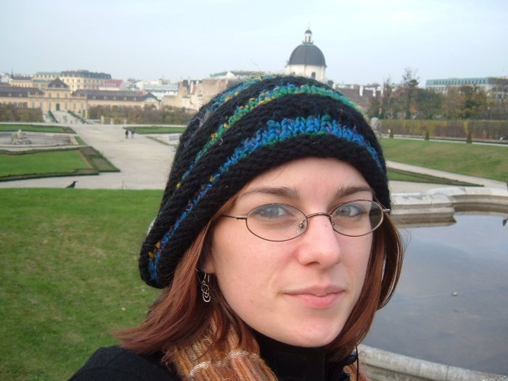 Anna at 23. A selfie taken back with the hashtag was just a pound sign. Vienna, November 2004.