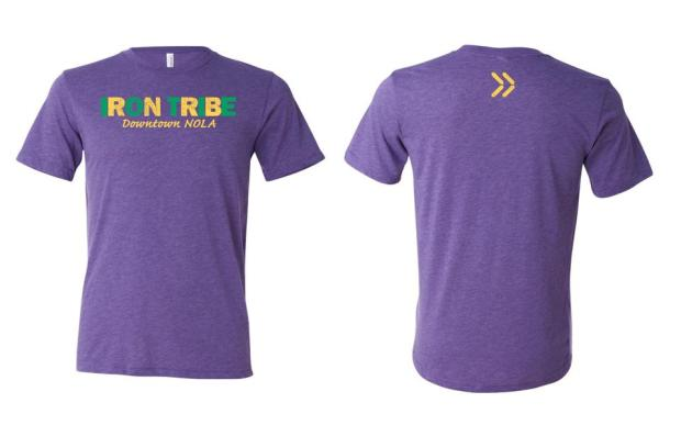 I'm so excited - my gym is actually getting special Mardi Gras shirts made. Totally geeking out over this one :-D