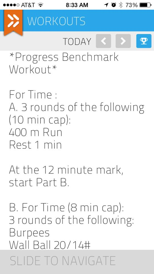 This is what a WOD (workout of the day) looks like at my gym.