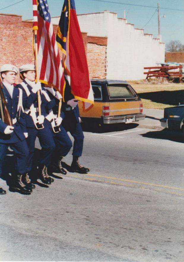 I wasn't just in JROTC - I was  on the JROTC color guard AND drill teams, a cadre, went to officer's training school in the summers, the whole 9 yards. Even so, I was so relieved to not have to go into the Air Force in the end.