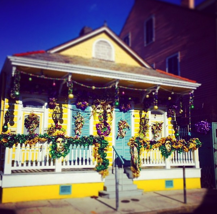 French Quarter home, all dressed up for Mardi Gras. Follow me on Instagram for more architecture photos.