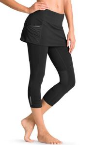 Just found these used Athleta 2 in 1 capris on Ebay. I wanted to wear leggings, but be wearing something that showed a little less of my shape. I've heard good things, so crossing my fingers these will work!